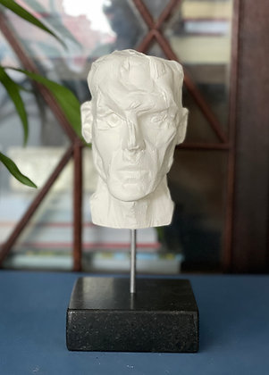 Miniature clay-cast plaster head #3