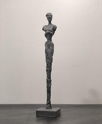 "18"" charcoal plaster figure"