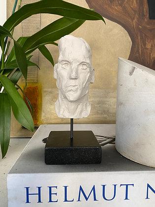 Miniature clay-cast plaster head #19