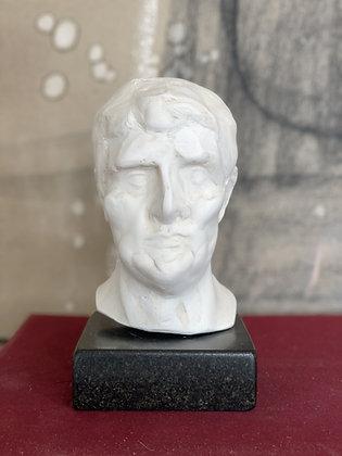 Miniature clay-cast plaster head #1