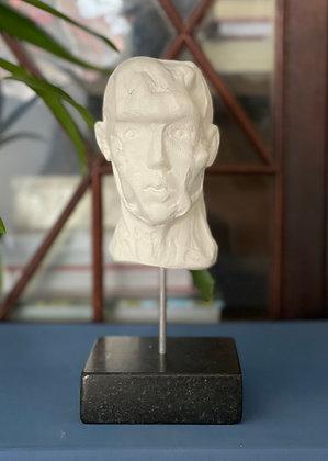 Miniature clay-cast plaster head #6