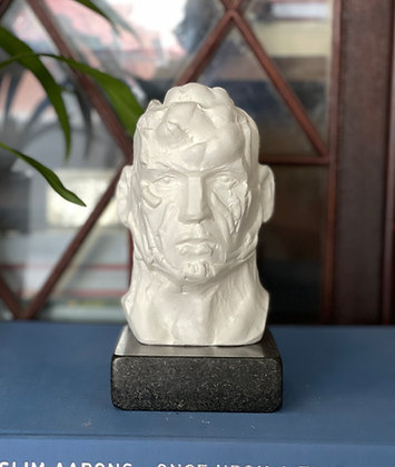 Miniature clay-cast plaster head #18