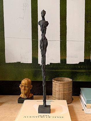 "21"" charcoal plaster figure"