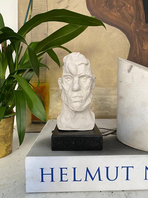 Miniature clay-cast plaster head #20