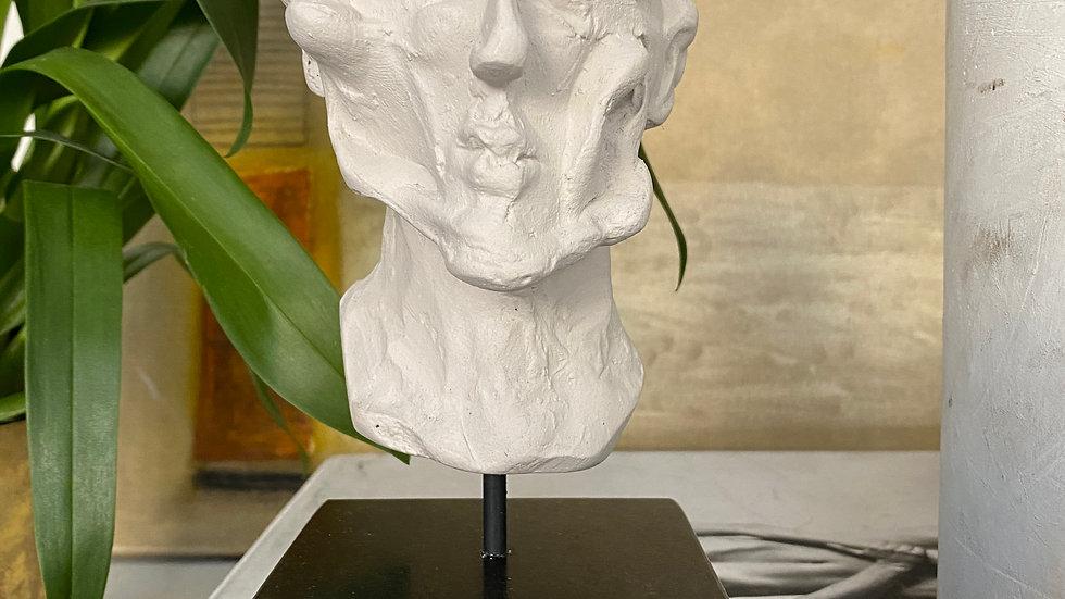 Miniature clay-cast plaster head #17