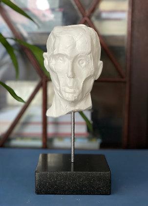 Miniature clay-cast plaster head #7