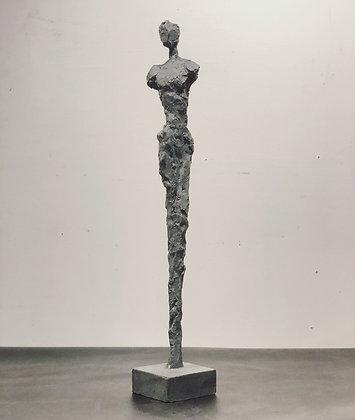 "22"" charcoal plaster figure"
