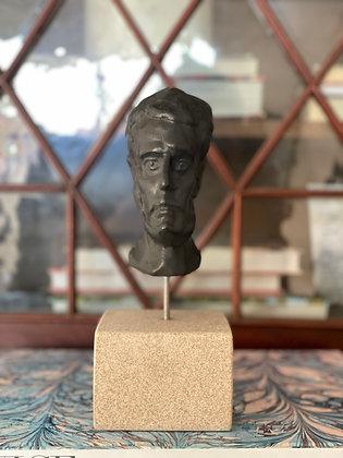 Miniature plaster bust with ebony finish #1