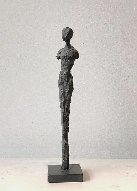 "16"" charcoal plaster figure"