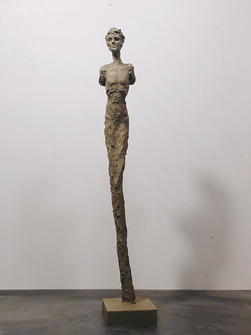 "26"" painted plaster figure"