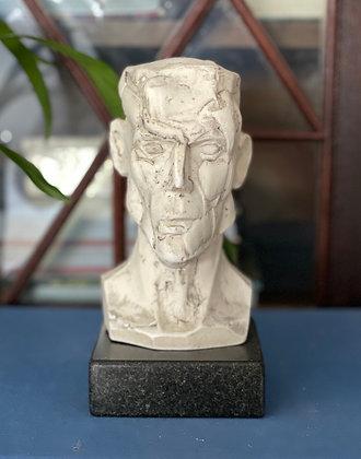 Miniature plaster bust with milk finish #5