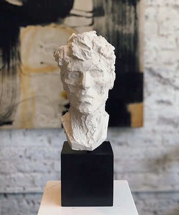 Life size plaster bust