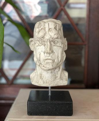 Miniature plaster bust with milk finish #2