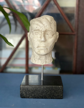 Miniature plaster bust with milk finish #1