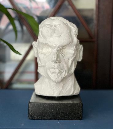 Miniature clay-cast plaster head #9
