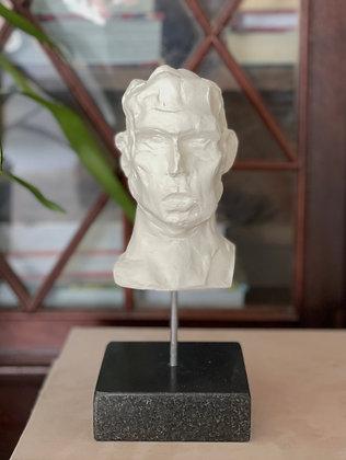 Miniature clay-cast plaster head #11