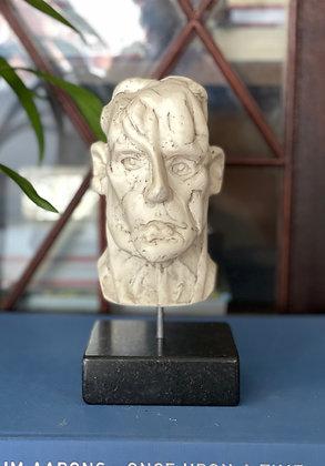 Miniature plaster bust with milk finish #3