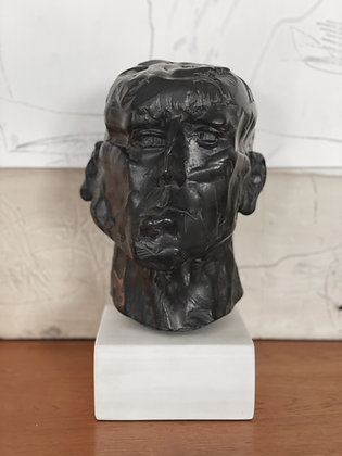 Life-size bust with ebony finish