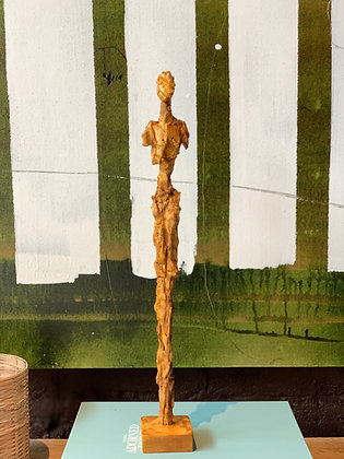 """18"""" plaster figure with shellac finish"""