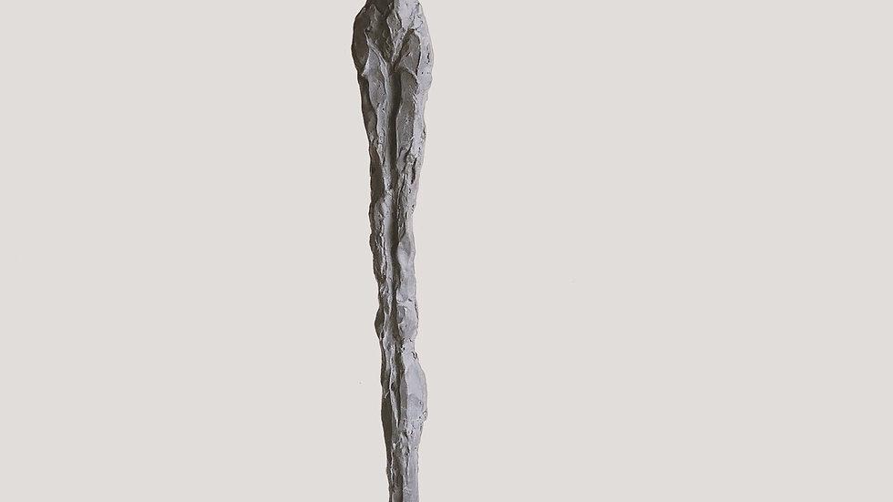 "37"" charcoal plaster figure"