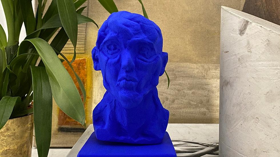 Miniature clay-cast plaster head #13