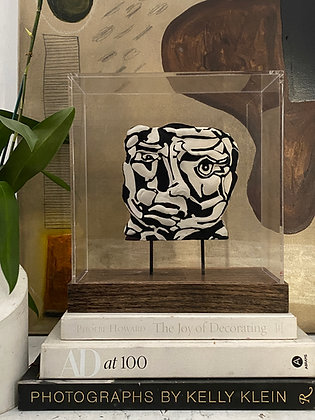 Painted plaster relief in acrylic display case #1