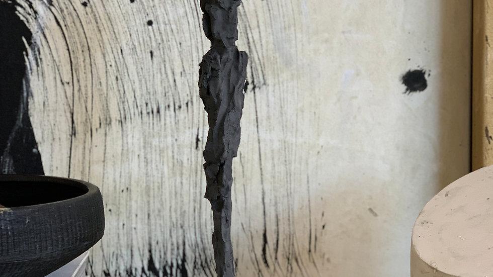"15"" charcoal plaster figure"