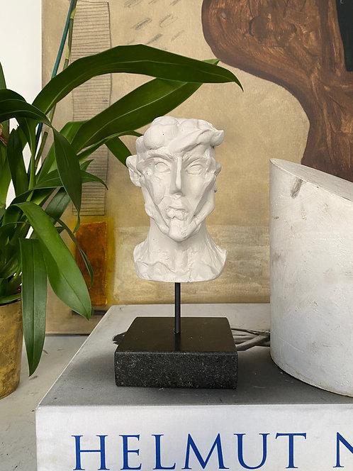 Miniature clay-cast plaster head #21