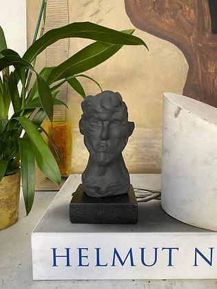Miniature clay-cast plaster head #15