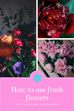How to use fresh flowers for your cake decorating