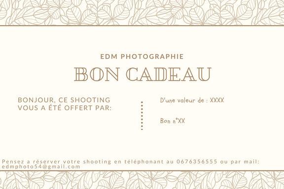 Bon cadeau photographe nancy lorraine meurthe et moselle photographie professionnel