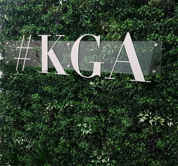 #KGA logo with glass over the top