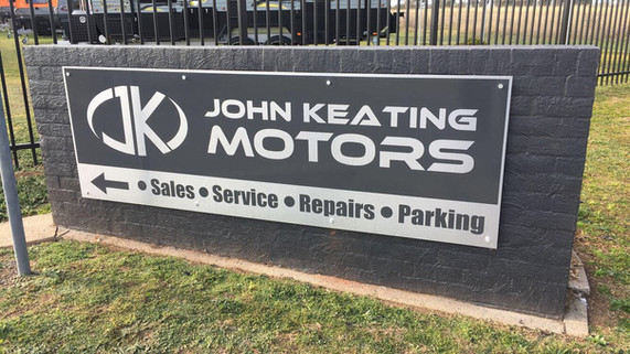john keating motors signage in front of tamworth building