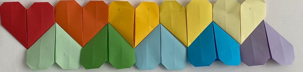 my origami hearts