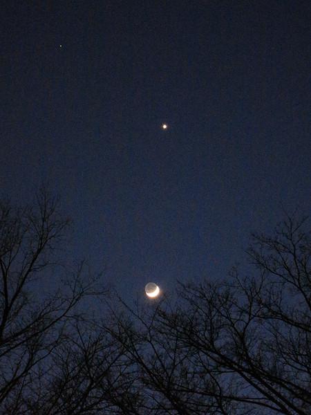 月と金星と火星と