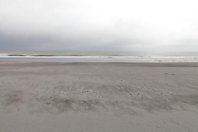ジュエリーアイスが上がる海岸