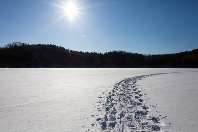 冬のオンネトー