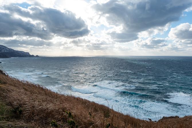 強風、極寒、綺麗な光景