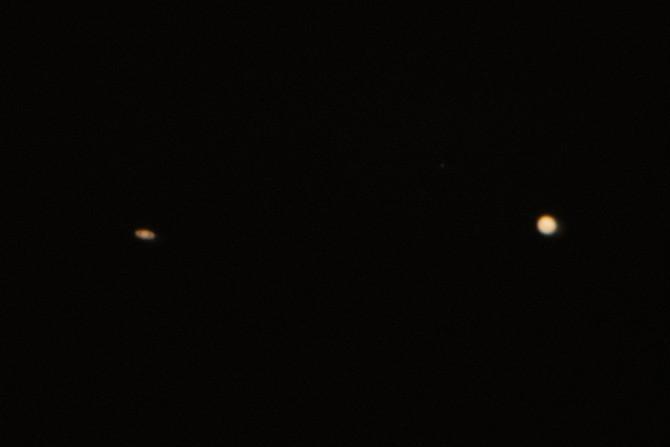 3日後の木星と土星