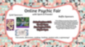 Online Psychic Fair with Spirit Holistic Center