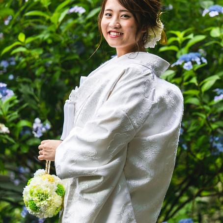 【鎌倉 紫陽花の季節の白無垢撮影】