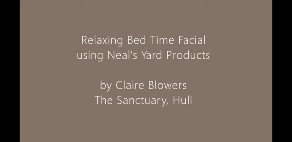 Links to youtube video of relaxing bed time facial