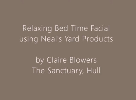 Relaxing Bed Time Facial Video
