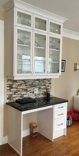 Custom Glass Kitchen Cabinets