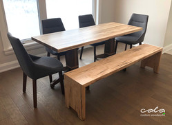 Kitchen Table and Bench 1