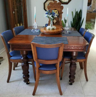 Dining Set Restored and Reupholstered