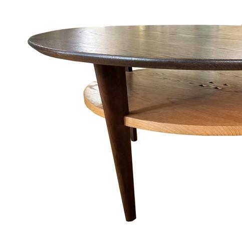 Oak and Walnut Coffee Table 1