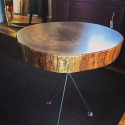 Solid Medallion Side Table