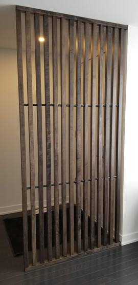 Solid Maple Slat Wall