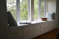 Custom Window Bench Cabinet